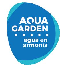 Logo Aqua Garden sobre azul